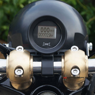 "22mm - 7/8"" Bar Mount GPS Speedometer MPH / KPH Custom Rat Rod Cafe Racer Projec"