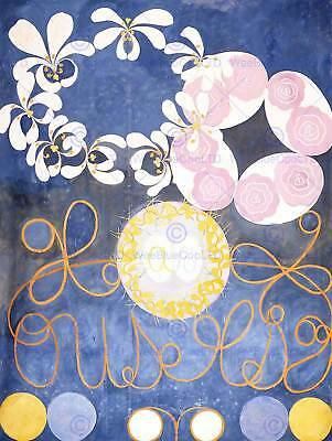 Hilma Af Klint Abstract Flowers Swirls Painting Art Print Poster Picture Hp374