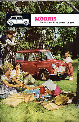 Morris Nuffield 1960 UK Market Foldout Sales Brochure Wolseley Riley MG Mini
