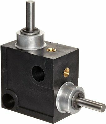 Huco 333.31.3.Z Size 31 L-Box Miniature Right Angle Gearbox, Acetal Case with
