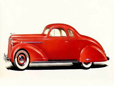 POSTER PRINT PHOTO TRANSPORT VINTAGE RED OLD CAR CLASSIC AUTOMOBILE PAMP337