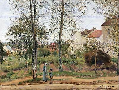 Painting Landscape Urban Pissarro French Houses Bougival Art Print Poster Lah198