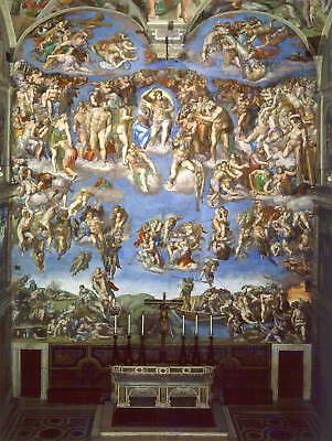 Michelangelo The Last Judgement 1541 Old Master Art Painting Print Poster 1989Om