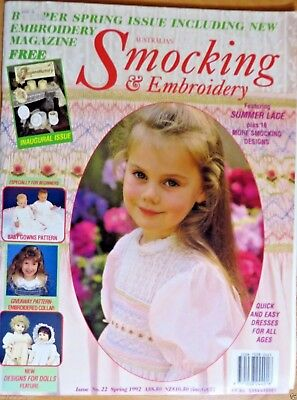 Australian Smocking & Embroidery Issue No. 22 Spring 1992