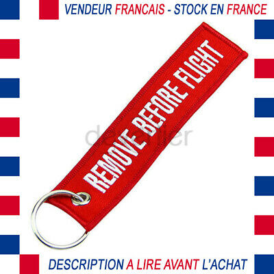 Porte Cles Remove Before Flight Rouge Collection Aviation Envoi De France Suivi