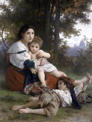 WILLIAM ADOLPHE BOUGUEREAU THIRST OLD MASTER ART PAINTING PRINT POSTER 3158OMA