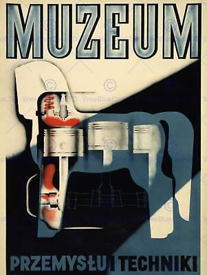 Advert Exhibition Museum Technology Industry Horse Engine Poland Poster Abb5973B