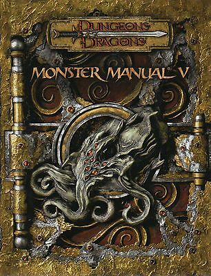Dungeons & Dragons-D&D-MONSTER MANUAL V-RPG-Rolplaying Game-(HC)-new-very rare