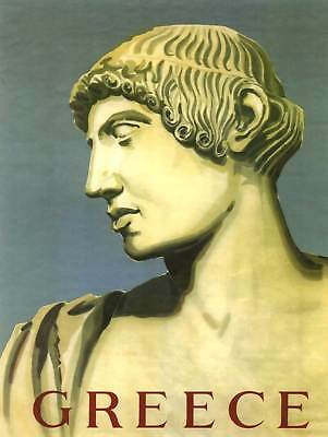 Travel Greece Bust Greek Painting Classical Art Print Poster Bb9739