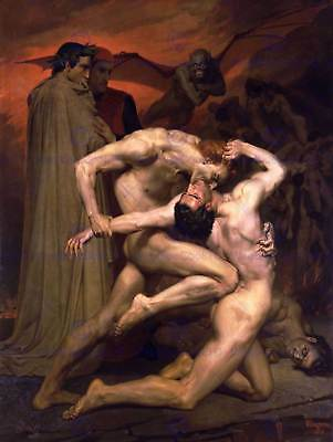 William Adolphe Bouguereau Dante Virgil In Hell Old Art Painting Print 3114Om