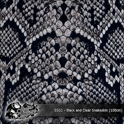 1m of Black & Clear Snakeskin (SSG2) 100cm hydrographics water transfer film