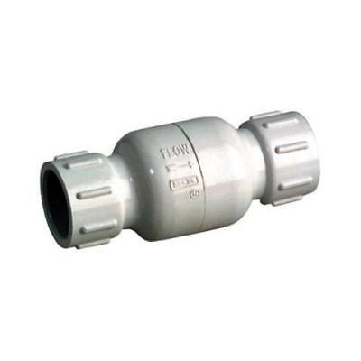 B&K 101-105 PVC Check Valve, Threaded, White, Schedule 40, 1-In. - Quantity 1