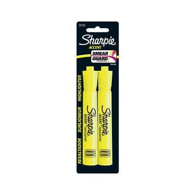 Sanford 25162PP 2-Pack Major Accent Fluorescent Yellow Highlighters - Quantity 1