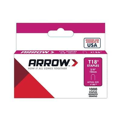 Arrow Fastener 186 1000-Count  T-18 3/8-Inch Staples - Quantity 1