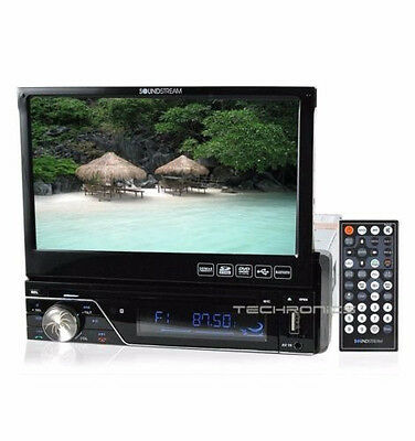 "Soundstream Vir-7830B 7"" Lcd Touchscreen Flip Out Dvd Cd Usb Mp3 Car Stereo"