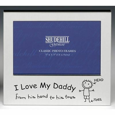 """I Love My Daddy Picture Photo Frame 5"""" X 3.5"""" Free-Standing Lacquer-Coated"""