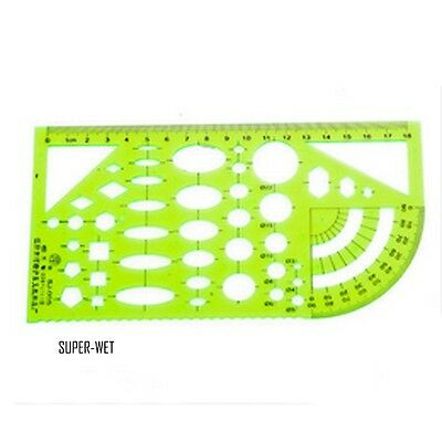 1 X Art Template Ruler Drawing Drafting Tailor Scale Math Architecture Engineer
