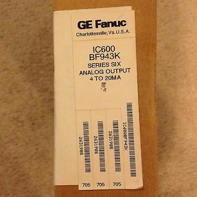 *NEW* GE FANUC Series Six IC600BF943K ANALOG OUTPUT