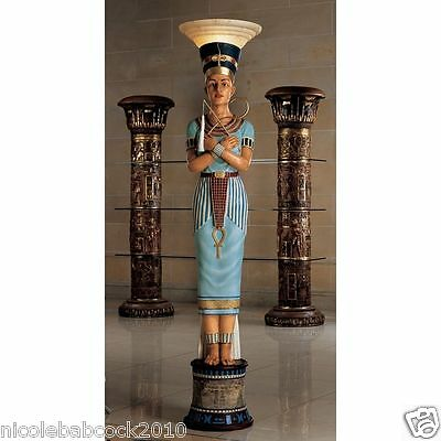 "75"" Ancient Egyptian Revival Legendary Life Size Queen Lighted Sculpture"