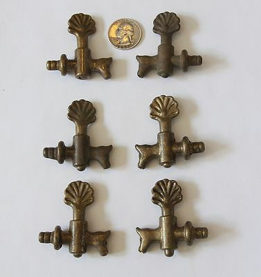 Lot Of 6 Antique Brass Spigots Petcocks Valves Steampunk Art Take A L@@ky!