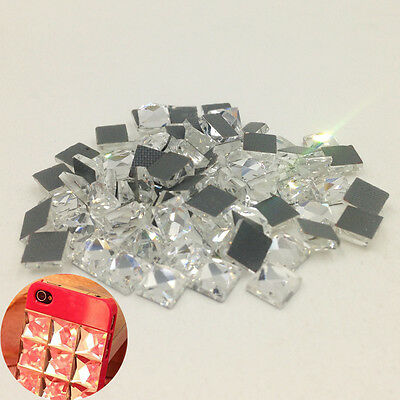 Square Crystal Rhinestones for Diamond Sewing Beads for Wedding Dress