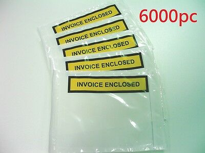 6000 Invoice Enclosed Document Envelope Sticker Label 115mm x 150mm!