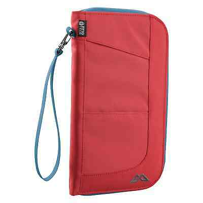 Kathmandu Departure Large RFID Security Travel Document Card Wallet v4 Red