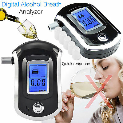 Digital Alcohol Tester Portable POLICE Breath Analyzer Detector Breathalyzer
