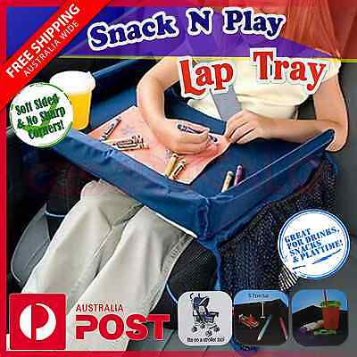 Baby Car Seat Lap Tray Snack N Play Portable Table Kid Travel Pushchair OZ Stock