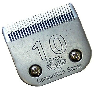 WAHL CLIPPER BLADE - #10 1.8mm 2358-100 Full Tooth Competition Set Max45 Avalon