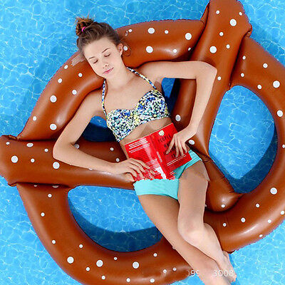 New Summer Inflatable Float Giant Pink Choco Donut Pool Raft Swimming Lounger