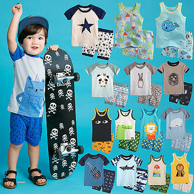 """39Style"" Vaenait Baby Toddler Boy Clothes Summer Short Pajama Outfit Set 12M-7T"