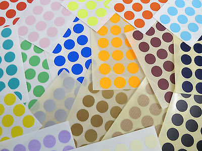 13mm Round Colour Code Stickers - Packs of 72 Coloured Circular Sticky Labels