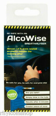 Disposable Alcohol Breathalyser Tester Kit Police Car Think Don't Drink Drive
