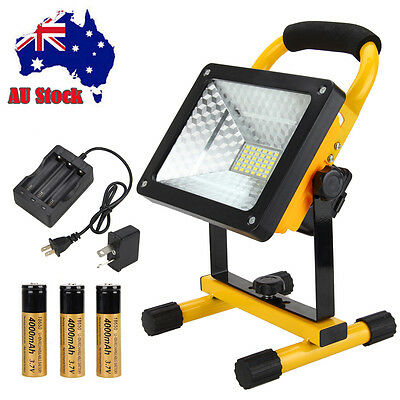Cordless Portable 50W Rechargeable LED Flood Light Spot Work Hiking Camp Lamp
