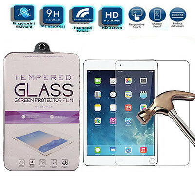 Genuine HD 9H Tempered Glass Screen Protector For iPad 2 3 4 5 6 Mini Air 2 Pro