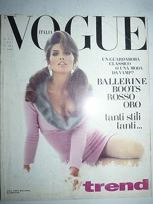 Magazine mode fashion VOGUE ITALIA #494 ottobre 1991 with missing pages