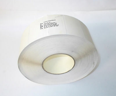 "One Roll 4,000 Thermal Transfer Blank White Labels 2.75 X 1.375"" w/perf-3"" Core"