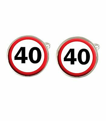 40th Birthday Road Sign Mens Cufflinks Ideal Birthday Gift C326