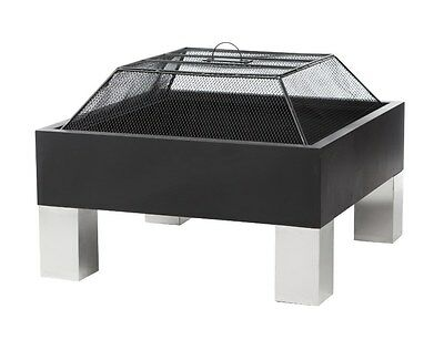 """Fire Sense Square Fire Pit Stainless 26"""" x 26""""  Fire Box Firepit 60454"""