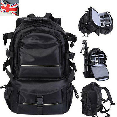 Large DSLR Camera Backpack Rucksack Sling Pack Bag for  Canon Nikon Sony Pentax