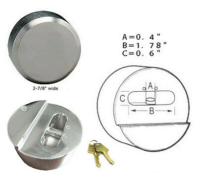 "Hidden Shackle Key Alike Hockey Puck Padlock van & trailer door lock 2-7/8"" (73m"