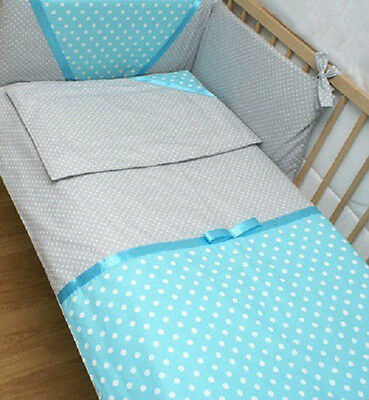 LUXURY 2 PIECES NURSERY - BABY BEDDING SET- PILLOW-QUILT COVER to fit COT