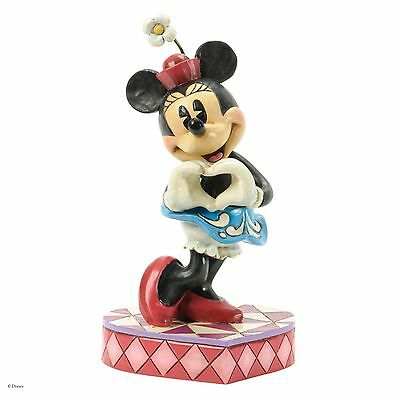 Traditions De Disney Rive I Heart You Minnie Mouse Figurine 17cm 4037519