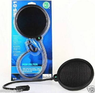 Pro Pop Filter Microphone Screen Studio Wind New Mask Condenser Shied Stand Mic