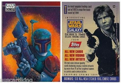 Star Wars - Galaxy Series 2 - Promo Chase Trading Card - No # P6 - BOBBA - NM