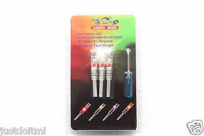 3X Red Lighted/LED Arrow Nock OD6.2mm Arrow Tail with