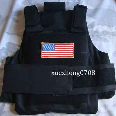 US Paintball Armor New Syle Tactical Airsoft Paintball Body Armor Vest  Black