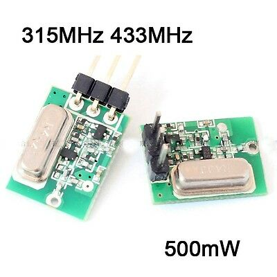 315MHz 433MHz Wireless Transmitter Module 2.2-12V 500mW ASK/OOK Alarm Remote