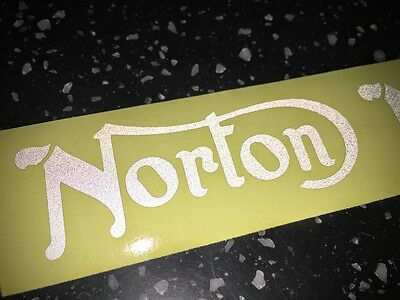 2x Norton REFLECTIVE SAFETY Motorcycle Helmet Sticker Hi Viz riding bike graphic